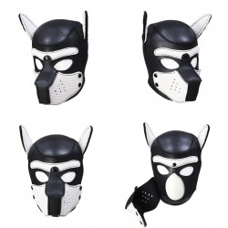 Puppy Masque Neoprene Noir-Noir