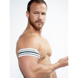 Neoprene Biceps Band Black White S/M