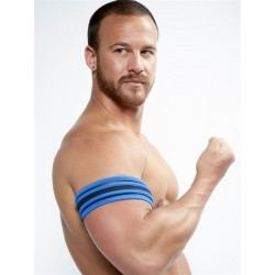 Neoprene Biceps Band Black Blue L/XL