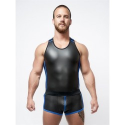 Neoprene Tank Top Black Blue L