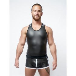 Neoprene Tank Top Black White S