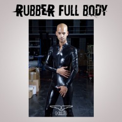 Mister B Rubber Full Body Suit With Zip S