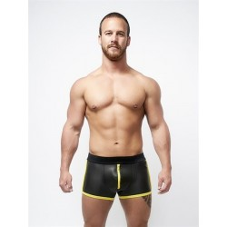 Neoprene Pouch Shorts Black Yellow S