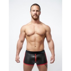 Neoprene Pouch Shorts Black Red L