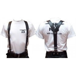 Mister B Leather Braces L - Bretelles Cuir Mr.B