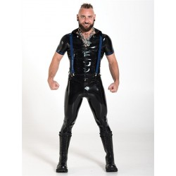 Mister B Rubber Braces Blue One Size