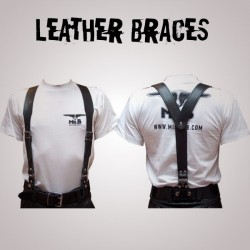 Mister B Leather Braces M - Bretelles Cuir Mr.B