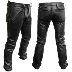 Mister B Leather FXXXer Jeans All Black 36