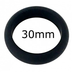 Cockring en silicone Noir 30mm